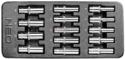 Inlay voor gereedschapkast met lange doppen 1/2
